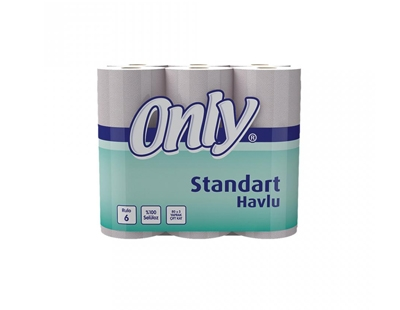 Only 6´Lı Standart Havlu